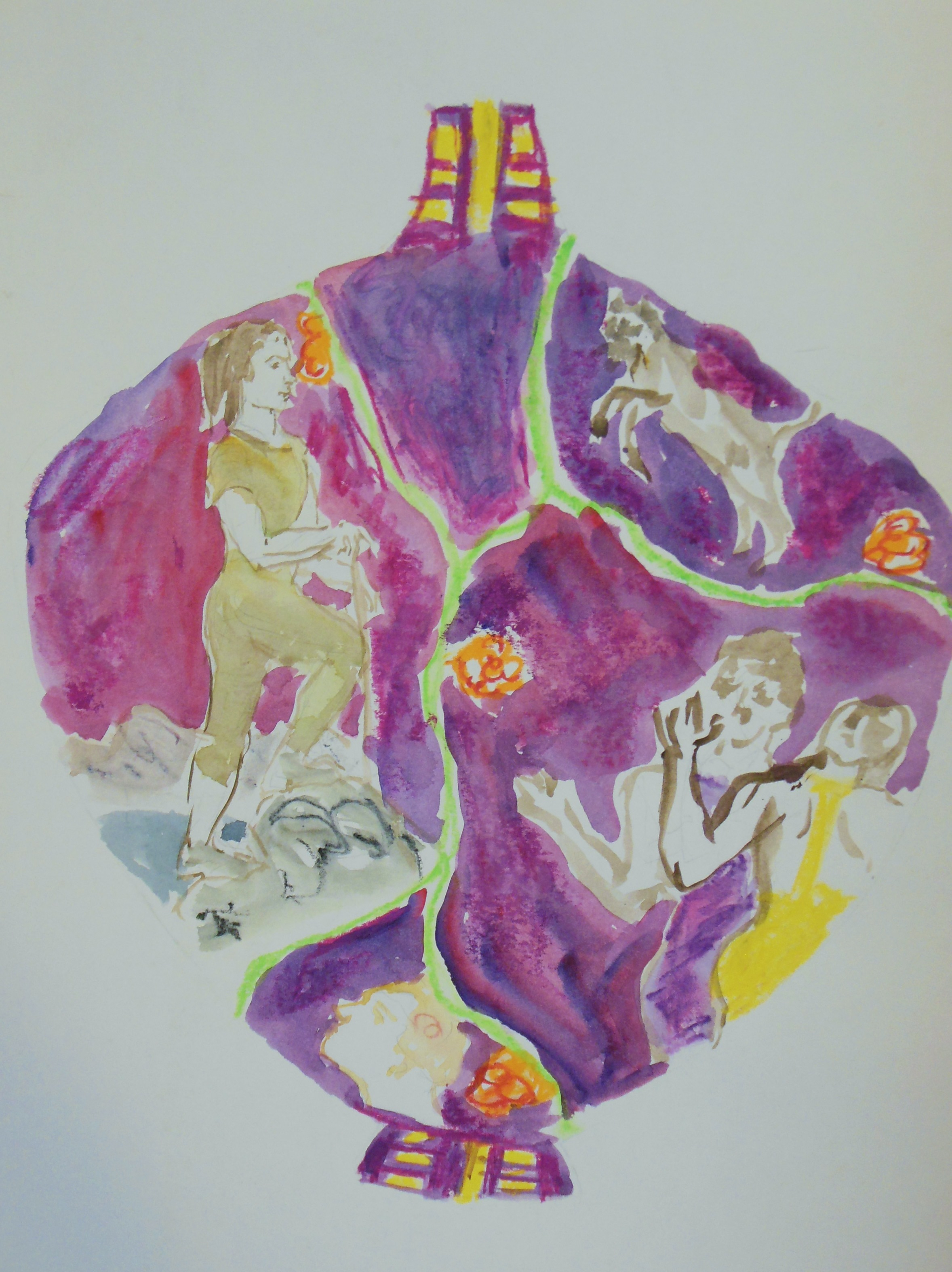 Drawing #3 for purple vase