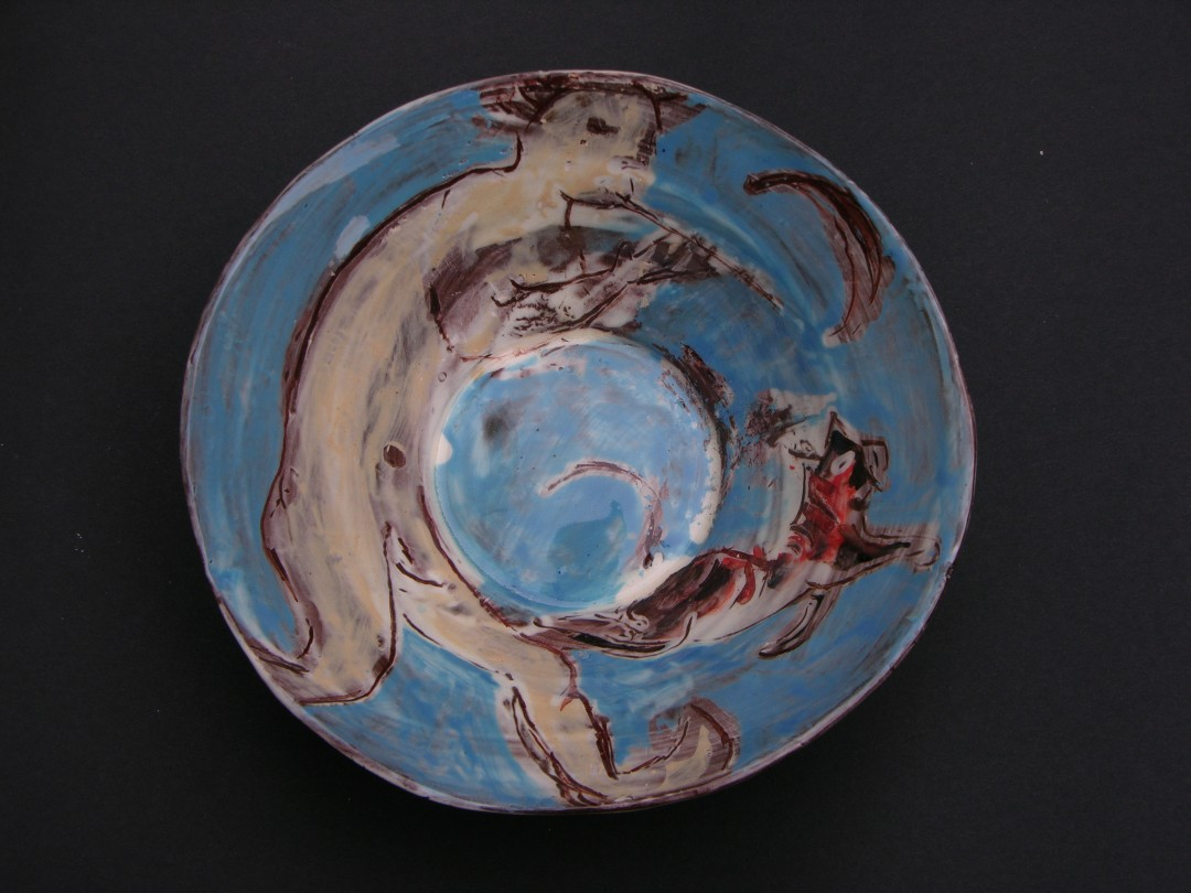 Pan under the Moon, 2012, 17cm diameter